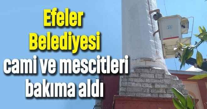 Efeler Belediyesi cami ve mescitleri bakıma aldı