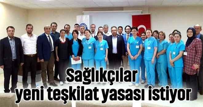 Sağlıkçılar yeni teşkilat yasası istiyor