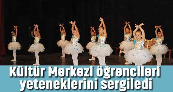 Kültür Merkezi öğrencileri yeteneklerini sergiledi