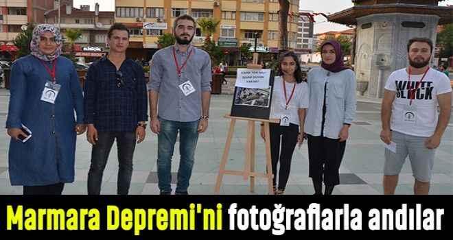 Marmara Depremi'ni fotoğraflarla andılar