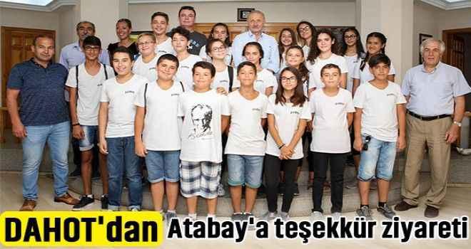 DAHOT'dan Atabay'a teşekkür ziyareti