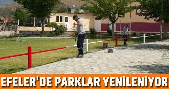 Efeler'de parklar yenileniyor