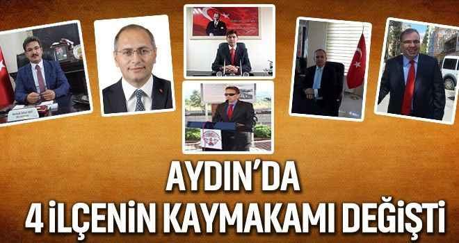 Aydın'da 4 ilçenin kaymakamı değişti