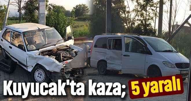 Kuyucak'ta kaza; 5 yaralı
