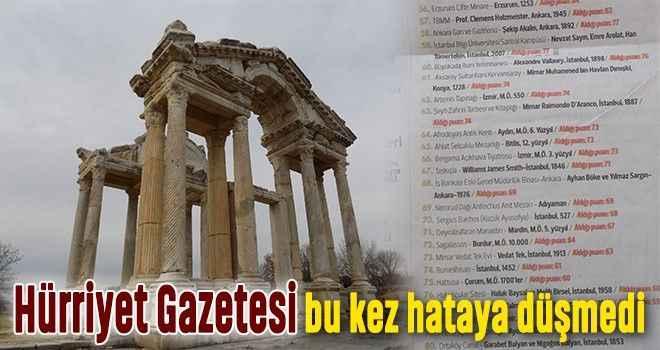 Hürriyet Gazetesi, bu kez hataya düşmedi