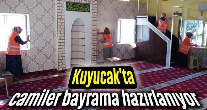Kuyucak'ta camiler bayrama hazırlanıyor
