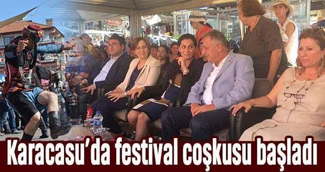 Karacasu'da festival coşkusu başladı
