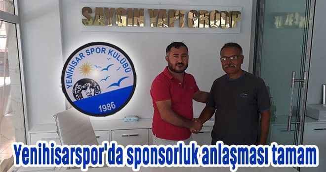 Yenihisarspor'da sponsorluk anlaşması tamam