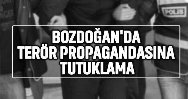 Bozdoğan'da terör propagandasına tutuklama