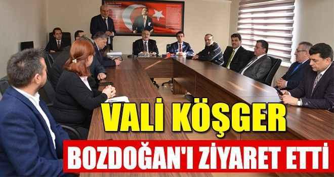 Vali Köşger, Bozdoğan'ı ziyaret etti