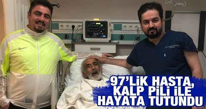 97'lik hasta, kalp pili ile hayata tutundu