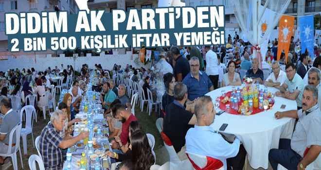 Didim AK Parti'den 2 bin 500 kişilik iftar yemeği