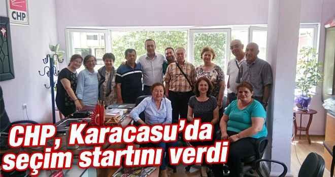 CHP, Karacasu'da seçim startını verdi