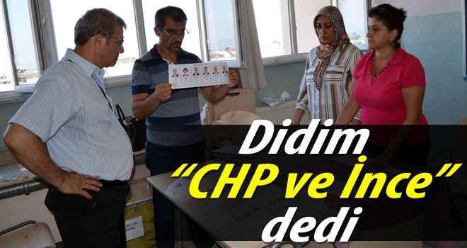 """Didim """"CHP ve İnce"""" dedi"""