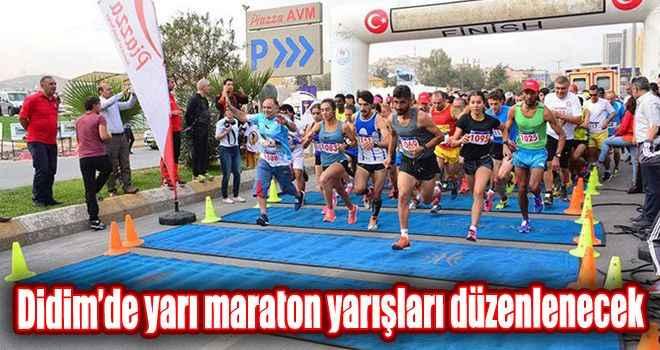 Didim'de yarı maraton yarışları düzenlenecek