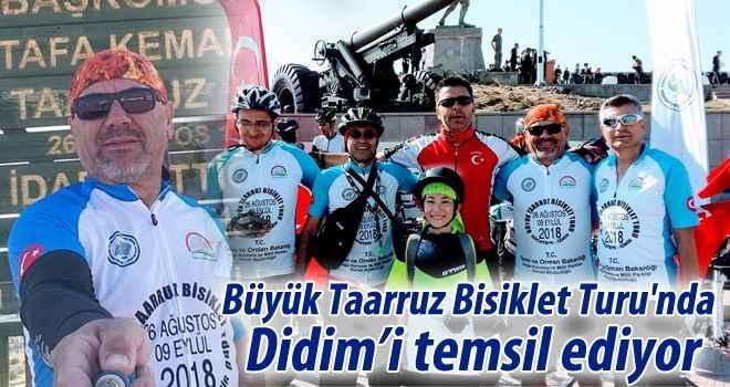 Büyük Taarruz Bisiklet Turu'nda Didim'i temsil ediyor