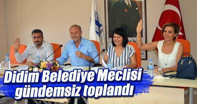 Didim Belediye Meclisi gündemsiz toplandı
