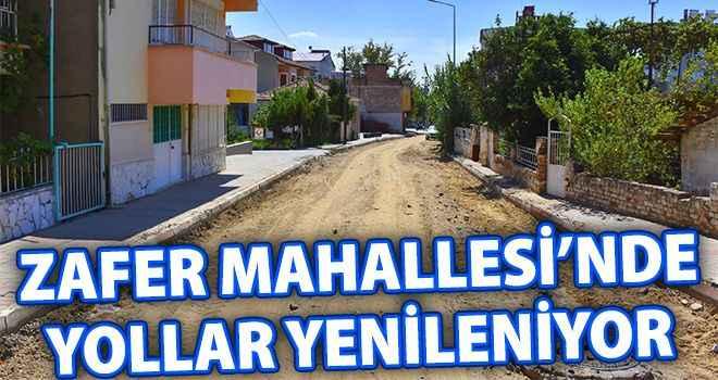 Zafer Mahallesi'nde yollar yenileniyor