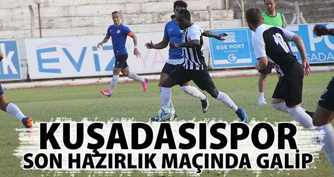 Kuşadasıspor son hazırlık maçında galip
