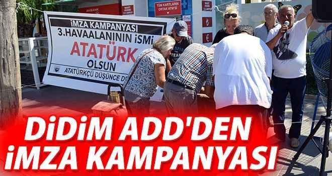 Didim ADD'den imza kampanyası