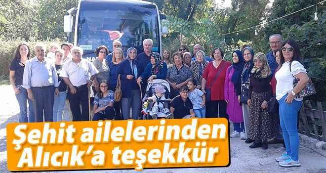 Şehit ailelerinden Alıcık'a teşekkür