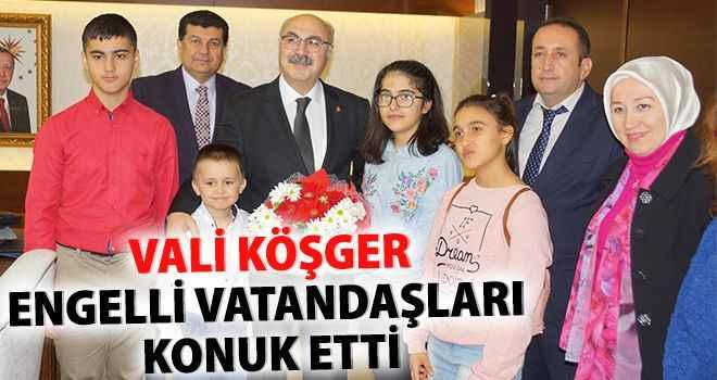 Vali Köşger, engelli vatandaşları konuk etti