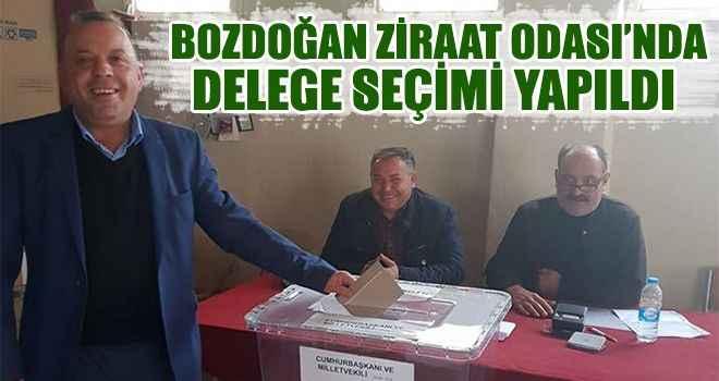 Bozdoğan Ziraat Odası'nda delege seçimi yapıldı