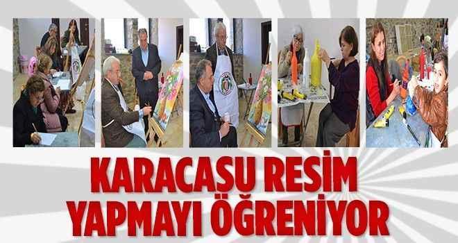 Karacasu'da yeni ressamlar yetişiyor