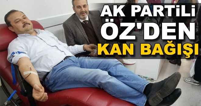 AK Partili Öz'den kan bağışı