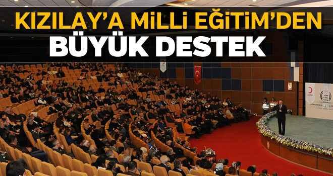 Kızılay'a Milli Eğitim'den büyük destek