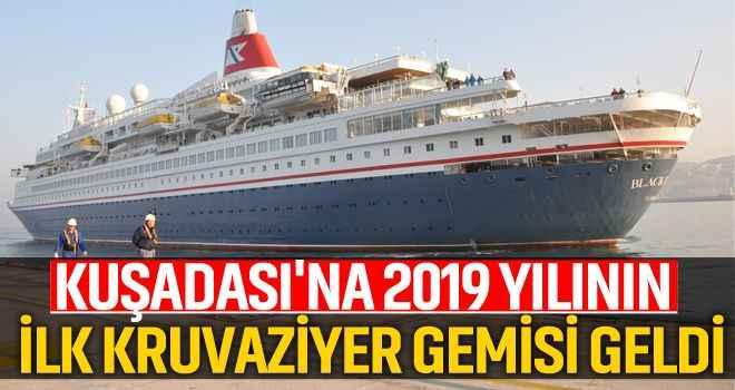 Kuşadası'na 2019 yılının ilk kruvaziyer gemisi geldi