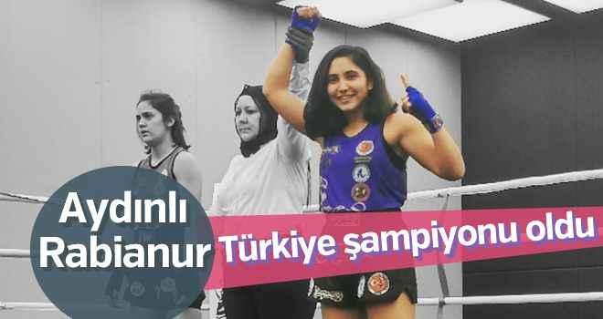 Aydınlı Rabianur, Türkiye şampiyonu oldu