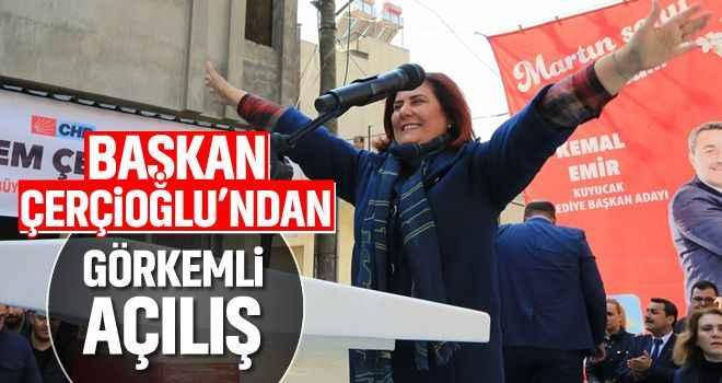 Başkan Çerçioğlu'ndan görkemli açılış