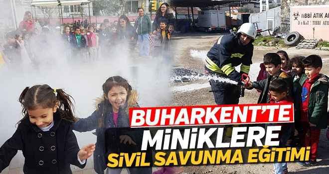 Buharkent Anaokulunda sivil savunma eğitimi