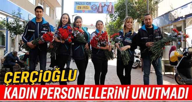 Çerçioğlu, kadın personellerini unutmadı