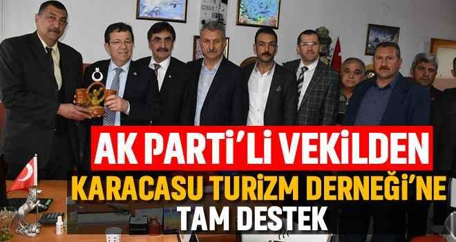 AK Parti'li vekilden Karacasu Turizm Derneği'ne tam destek