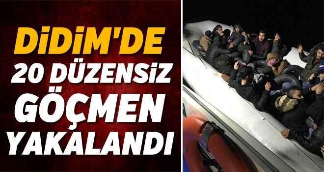 Didim'de 20 düzensiz göçmen yakalandı