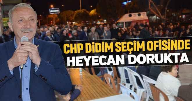 CHP Didim seçim ofisinde heyecan dorukta