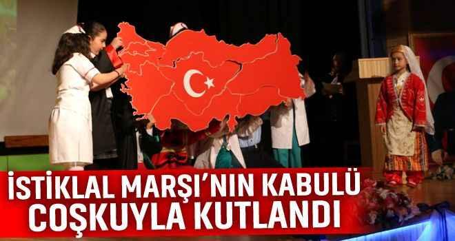 Kuyucak'ta İstiklal Marşı coşkusu