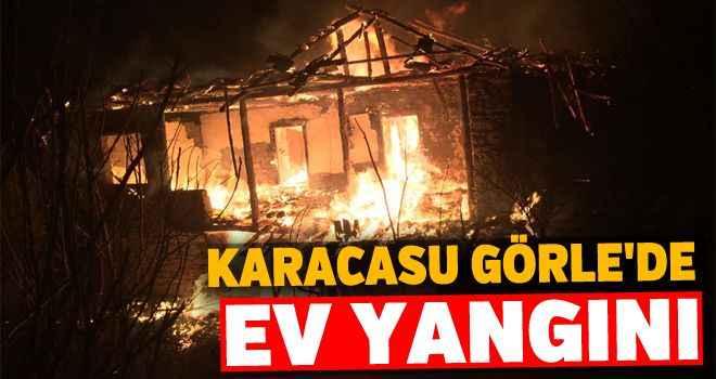 Karacasu Görle'de ev yangını