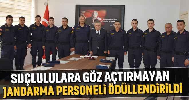 Suçlulara göz açtırmayan jandarma personeli ödüllendirildi