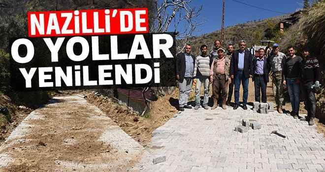 Nazilli Belediyesi, Bekirler'de yolları yeniledi