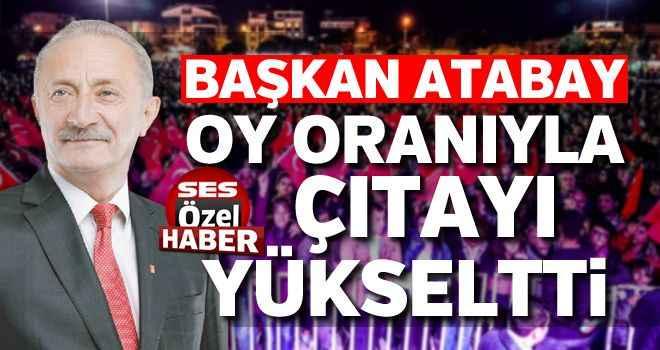 Başkan Atabay oy oranıyla çıtayı yükseltti
