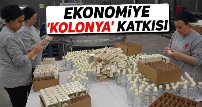 Ekonomiye 'kolonya' katkısı