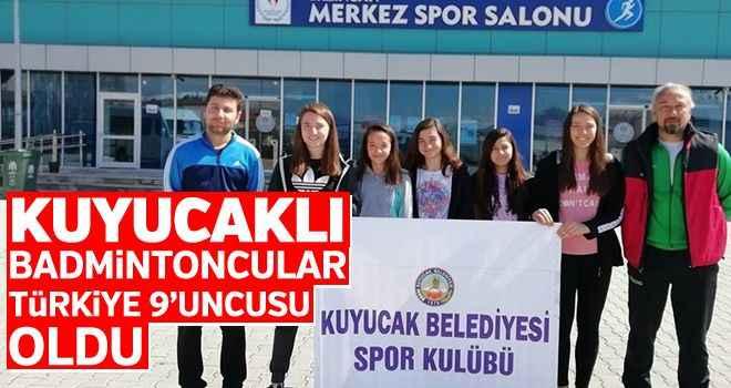 Kuyucaklı badmintoncular Türkiye 9'uncusu oldu