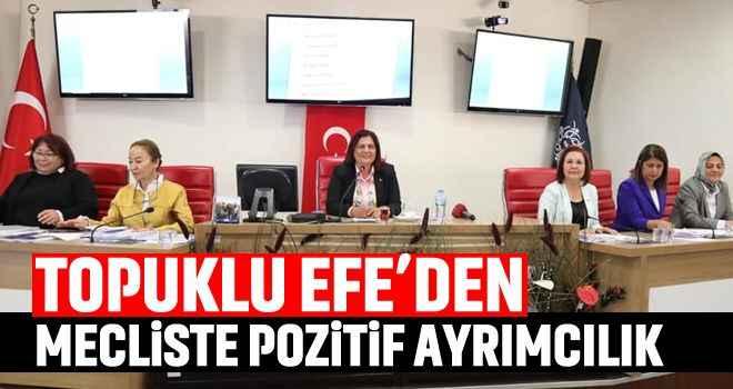 Topuklu Efe'den mecliste pozitif ayrımcılık