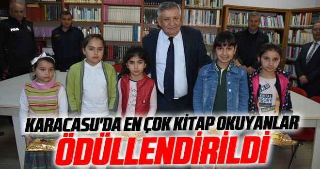 Karacasu'da en çok kitap okuyanlar ödüllendirildi