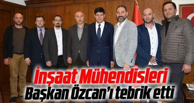 İnşaat Mühendisleri, Başkan Özcan'ı tebrik etti