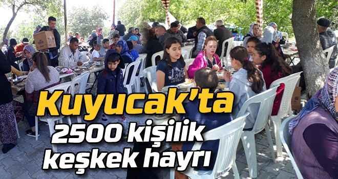 Kuyucak'ta 2500 kişilik keşkek hayrı