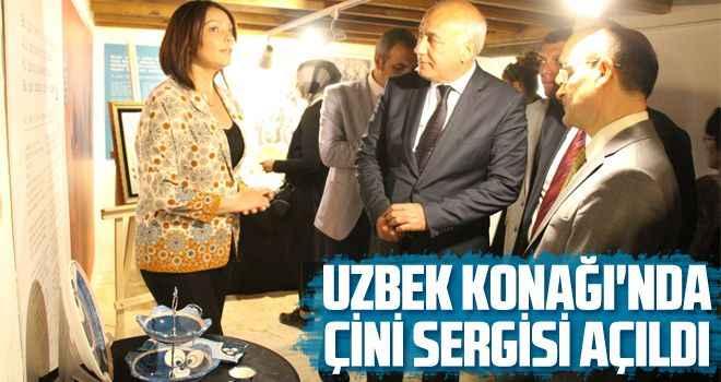 Uzbek Konağı'nda çini sergisi açıldı